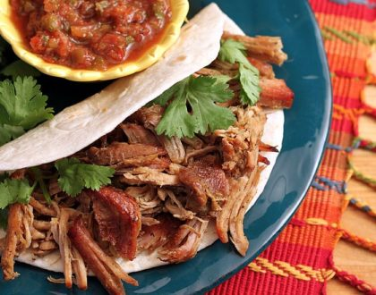 Braised Pork Tenderloin Burritos